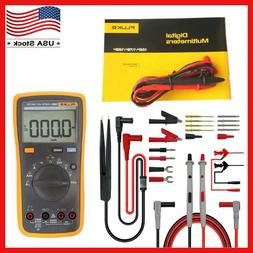 FLUKE 15B+ F15B+ Digital Multimeter Meter, Test Lead Kit P15