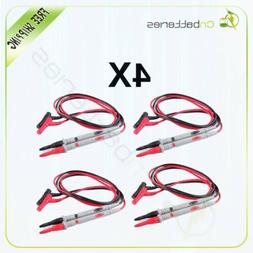 4 PVC  1000V 20A Cable Banana Needle Tipped Tip Multimeter P