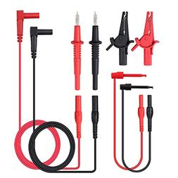 Neoteck 8 Pieces Multimeter Test Lead, Test Lead with Alliga