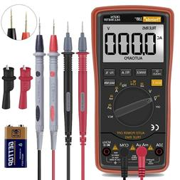 Auto Ranging Digital Multimeter with Battery Alligator Clips