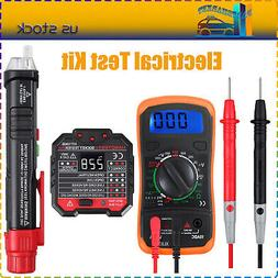 Electrical Test Kit Non Contact Voltage Tester Pen + LCD Dig
