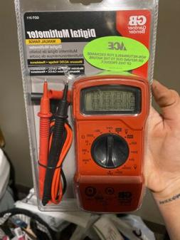Gb Digital Multimeter 2 M Ohms, 500 V, 600 V, 9 V 3 Function