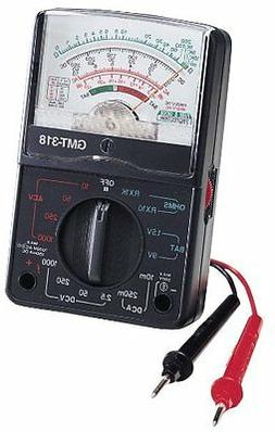 Gardner Bender GMT-318 Analog Multimeter, 6 Function, 14 Ran