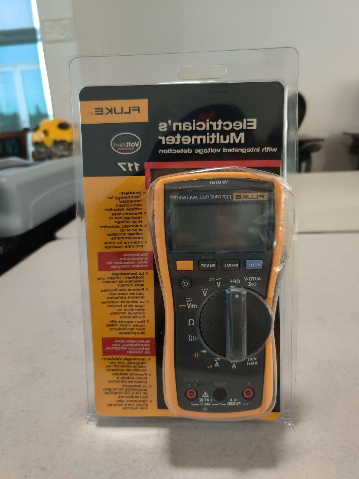 117 electrician s multimeter with integrated voltage