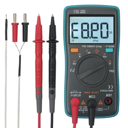 6000counts TRMS AC/DC Voltage Current Tester