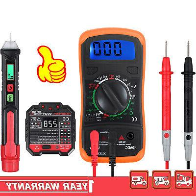 digital multimeter electrical non contact voltage tester