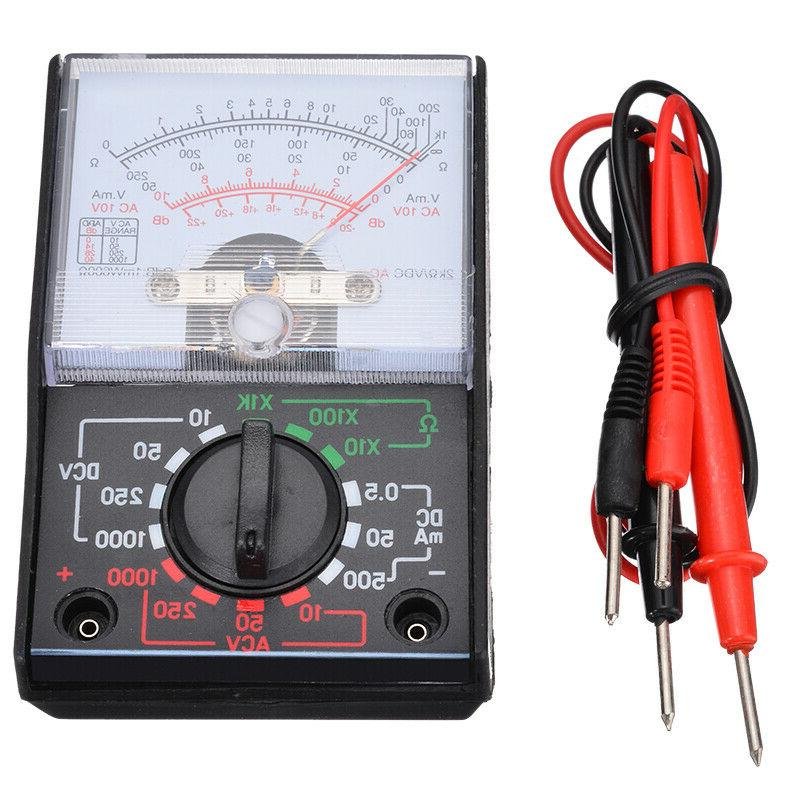 Analogue Multimeter AC Volts Ohm. Electrical Circuit Multi Test