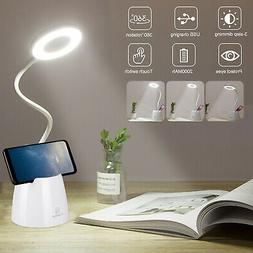 18 LED Desk Light Bedside Reading Lamp Dimmable Rechargeable